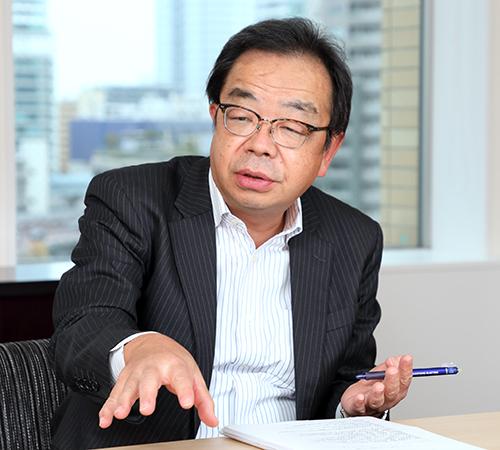 執行役員 産業インフラ営業本部副本部長 兼 医療・通信営業部長 原田 寛(Harada Hiroshi)